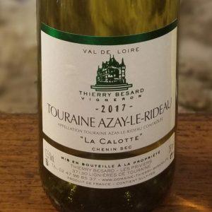 Etiquette vin blanc de Touraine du Domaine Thierry Besard