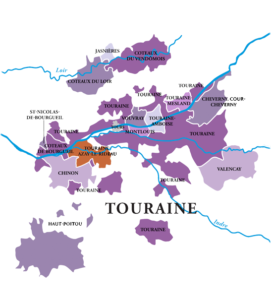 Carte des vins de Touraine