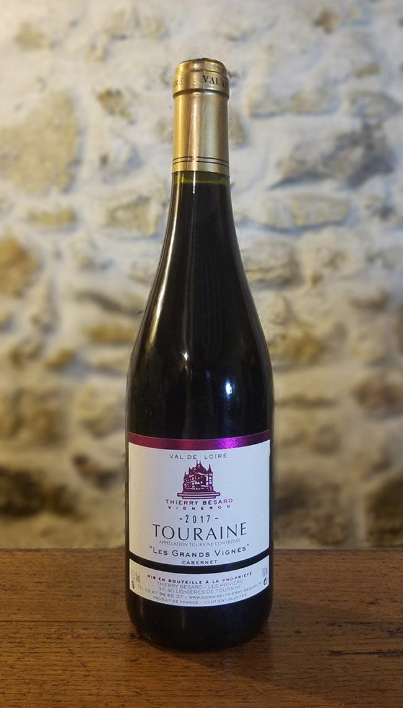 Cabernet rouge de Touraine Val de Loire, appélation Azay-le-Rideau
