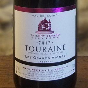 Etiquette de cabernet rouge de Touraine du Domaine Thierry Besard