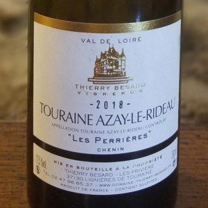 Etiquette vin blanc demi-sec de Touraine du Domaine Thierry Besard