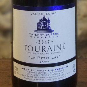 Etiquette vin rouge Gamay du Domaine Thierry Besard