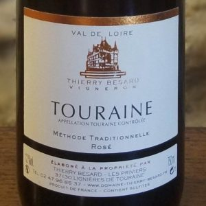 Vin rosé pétillant du Val-de-Loire (Azay-Le-Rideau)