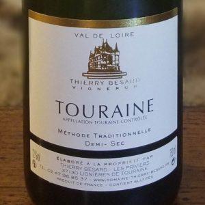 Vin blanc pétillant demi-sec du Val-de-Loire