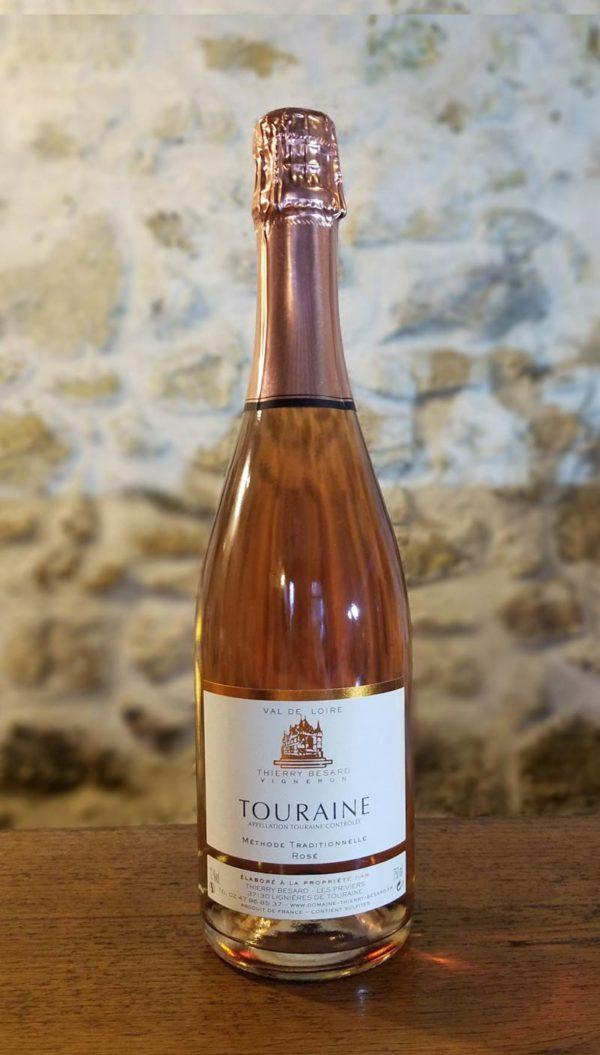 Vin pétillant rosé de Touraine Azay le rideau
