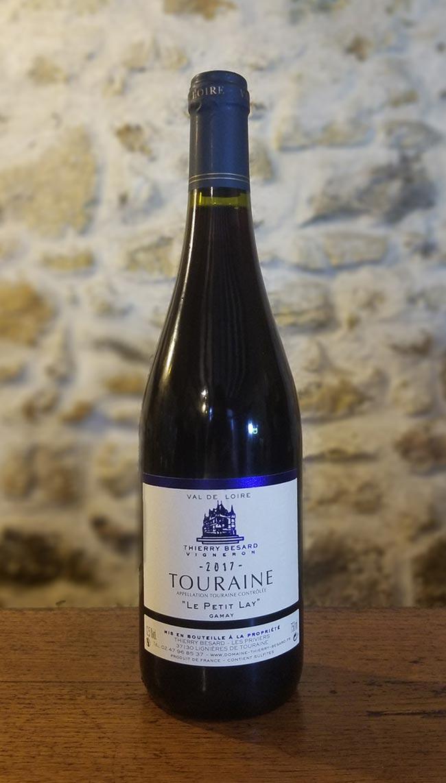 Vin rouge cépage gamay d'Azay-le-Rideau du Domaine Thierry Besard
