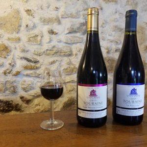 Vin rouge du Val de Loire appélation Azay-le-Rideau